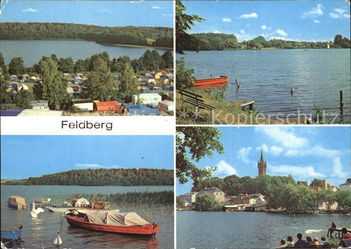Feldberg Mecklenburg Campingplatz Huettenberg am Breiten Luzin Bootshafen  Kat. Feldberger Seenlandschaft