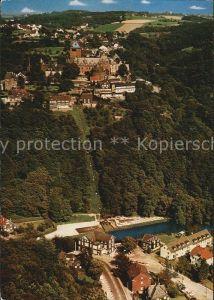 Burg Wupper Schloss Burg Seilbahn Unterburg Fliegeraufnahme Kat. Solingen