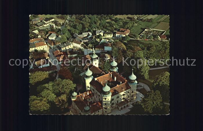 Artstetten-Poebring Schloss Fliegeraufnahme / Artstetten-Poebring /Mostviertel-Eisenwurzen
