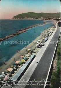 San Bartolomeo del Cervo Promenade Strand Kap Berta Kat. Imperia