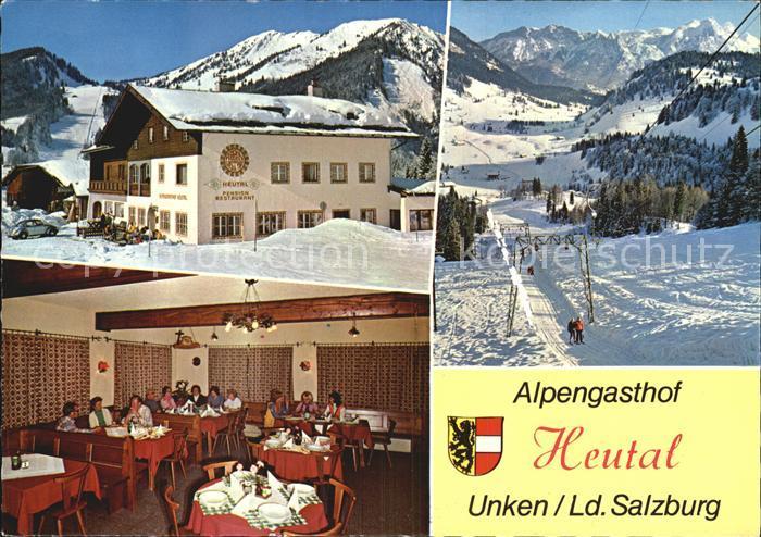 Heutal Unken Alpengasthof Heutal  Kat. Unken