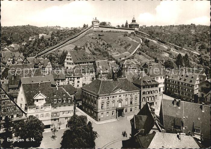 Esslingen Neckar Burg Ortsansicht  Kat. Esslingen am Neckar