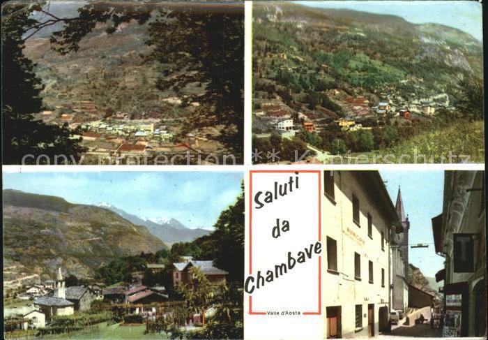 Chambave Total und Teilansichten Dorfstrasse