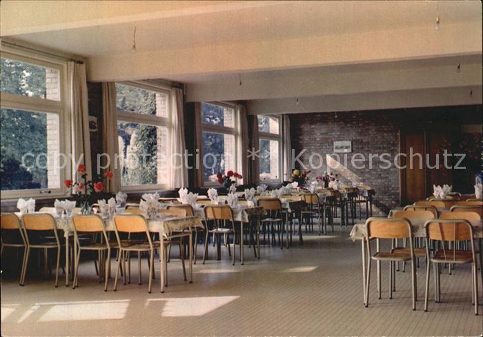 Rexpoede Foyer du Groenhof La salle a manger des retraitants Kat. Rexpoede