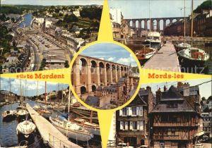 Morlaix Place De Gaulle Le viaduc Le port et les vieilles maisons Kat. Morlaix