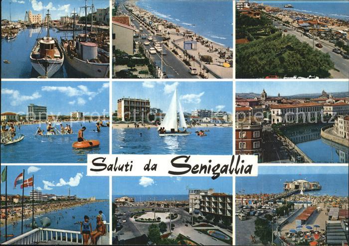 Senigallia Hafen Strand Promenade Teilansichten Kat. Italien
