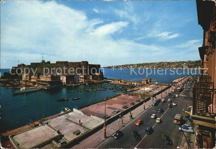 Napoli Neapel Castel dell Ovo Hafen Kat. Napoli