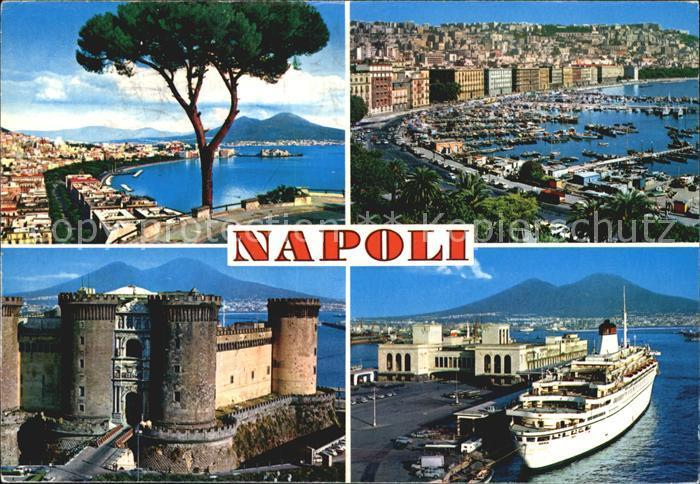 Napoli Neapel Hafen Burg Panorama Kat. Napoli