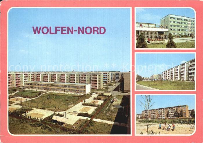 Wolfen Bitterfeld  Kaufhalle Altersheim Strasse der Jugend Kat. Bitterfeld