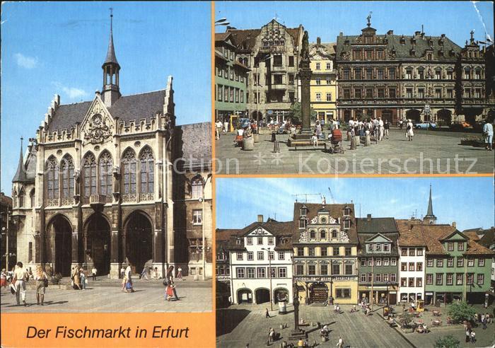 Erfurt Fischmarkt Rathaus Haus zum Breiten Herd Roten Ochsen Kat. Erfurt