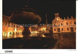 Udine Nachtaufnahme Piazza San Giacomo Kat. Udine
