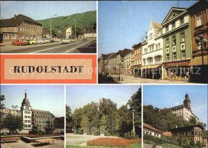 Rudolstadt Stadtteil Schwarza Blick zum Rathaus Heidecksburg Thaelmannstrasse Kat. Rudolstadt
