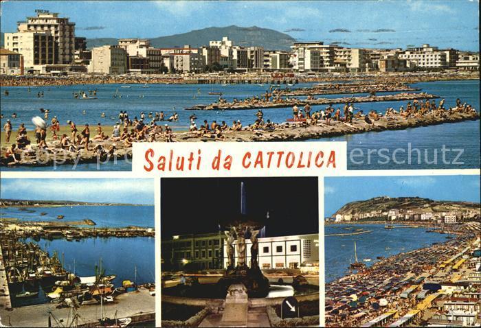 Cattolica Hafen Stadtansicht  Kat. Cattolica