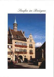 Staufen Breisgau Rathaus Marktbrunnen Kat. Staufen im Breisgau