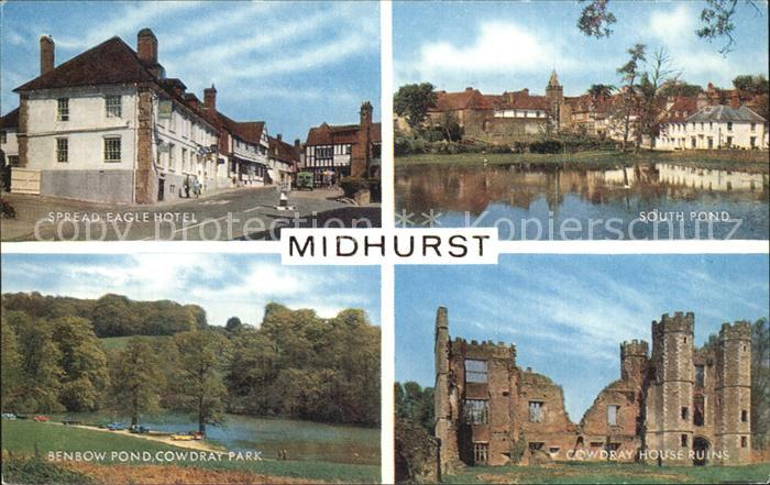 Midhurst Spread Eagle Hotel South Pond Cowdray House Ruins Benbow Pond Cowdray Park Kat. Chichester