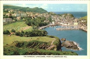 Ilfracombe North Devon Harbour as seen from Hillsborough Hill Kat. North Devon