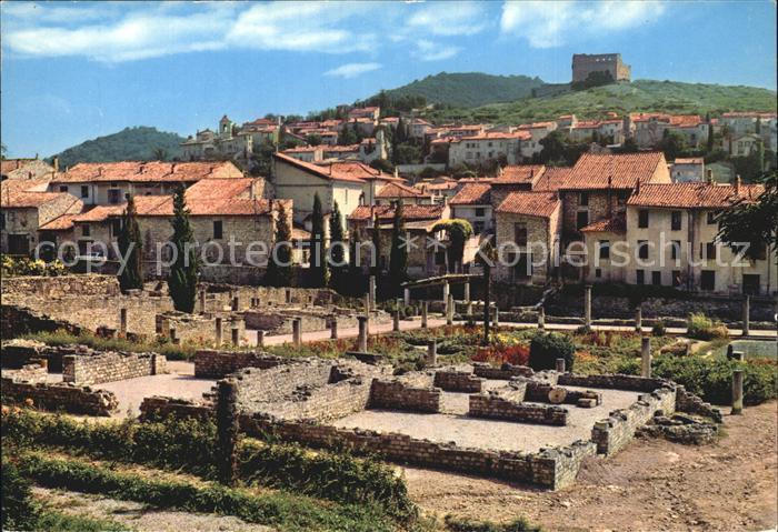 Vaison la Romaine Vaucluse La Villasse vue sur le Chateau Kat. Vaison la Romaine