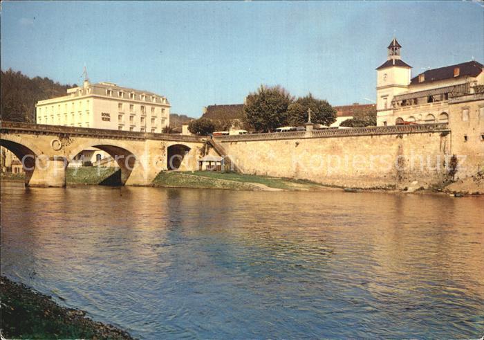 Le Bugue Riviere Dordogne Pont Bruecke Stadtmauer Kat. Le Bugue
