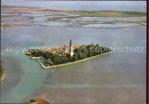 Grado Fliegeraufnahme Laguna Insel S. Maria di Barbana Kat. Italien