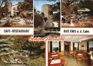 Bad Ems Cafe Restaurant Schoene Aussicht Aussichtsturm Kat. Bad Ems