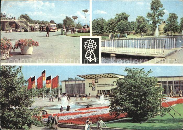 Erfurt Intern Gartenbauausstellung Rendezvousbruecke IGA Express Wasserachse Halle der Voelkerfreundschaft Kat. Erfurt
