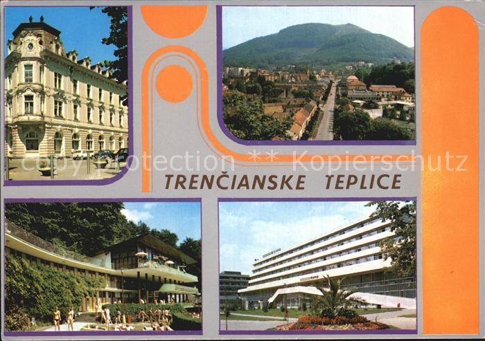 Trencianske Teplice Teilansichten Kurort