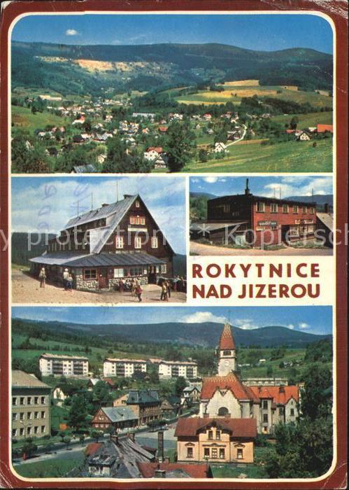Rokytnice nad Jizerou Celkovy pohled Chata Dvoracky Hotel Narodni dum Vyhled k Lyse hore Kat. Rochlitz Iser