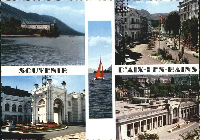 Aix les Bains Abbaye d Hautecombe Avenues des Thermes et de la Gare Grand Casino Etablissement Thermal Kat. Aix les Bains