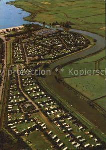 Kropswolde Kampeerterrein Jachthaven Meerwijck Campingplatz Fliegeraufnahme