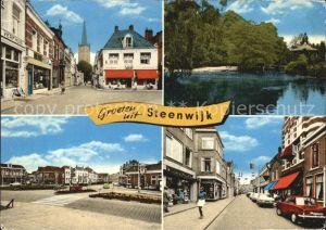 Steenwijk Ortsansichten Strassenpartie Pavillon am See Kat. Niederlande