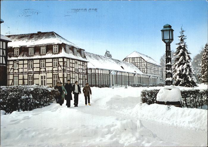 Bad Driburg Kurpark Neue Wandelhalle im Winter Kat. Bad Driburg