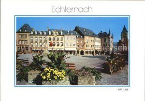 Echternach Place du Marche Marktplatz Kat. Luxemburg