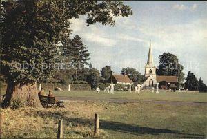 Brockham Cricket match Church