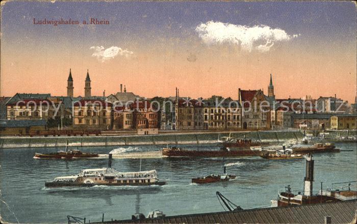 Ludwigshafen Rhein Rheinpartie Kat. Ludwigshafen am Rhein