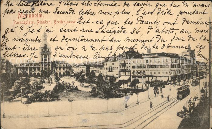 Mannheim Paradeplatz Planken Breitestrasse Kat. Mannheim