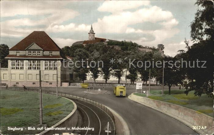 Siegburg Landratsamt und Michaelsberg Kat. Siegburg