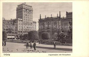 Leipzig Augustusplatz mit Europahaus Kat. Leipzig