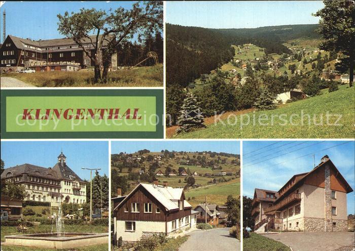 Klingenthal Vogtland Jugendherberge Rathaus Aschberg  Kat. Klingenthal Sachsen