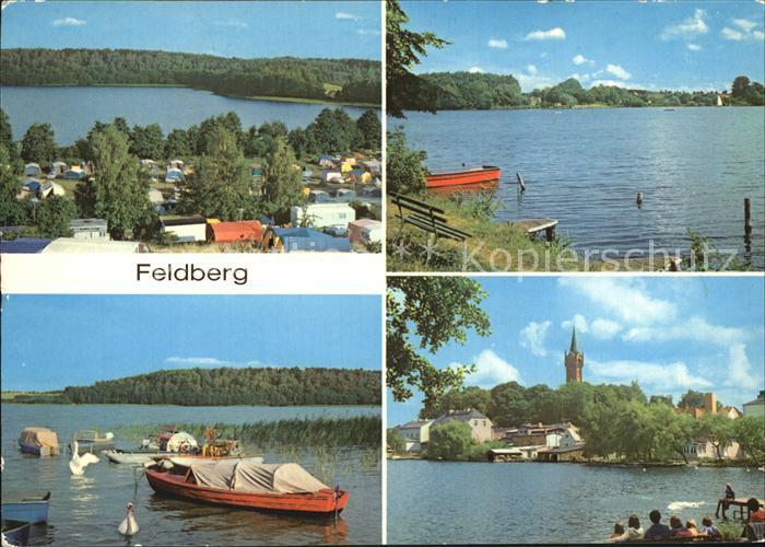 Feldberg Mecklenburg Camping Huettenberg am Breiten Luzin Haussee Kat. Feldberger Seenlandschaft