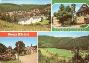 Berga Elster Panorama Bahnhofstr Schloss Str Elstertal Kat. Berga Elster