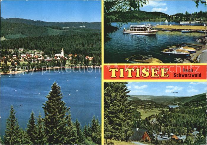 Titisee Neustadt Panorama Fahrgastschiff Titisee Kat. Titisee Neustadt