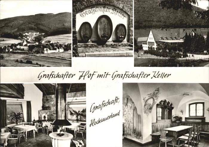 Grafschaft Sauerland Grafschafter Hof mit Grafschafter Keller Gastraeume Kat. Schmallenberg