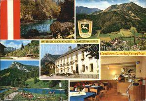 Schwarzau Gebirge Gasthof zur Post Naturpark Erholungsgebiet Freibad Alpen Kat. Schwarzau im Gebirge