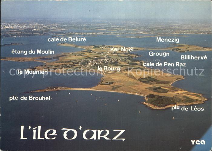 Ile d Arz Vue aerienne Collection La Bretagne Pittoresque