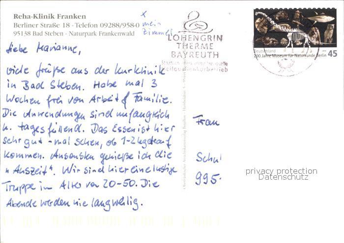 bad steben reha klinik franken naturpark frankenwald kat. Black Bedroom Furniture Sets. Home Design Ideas