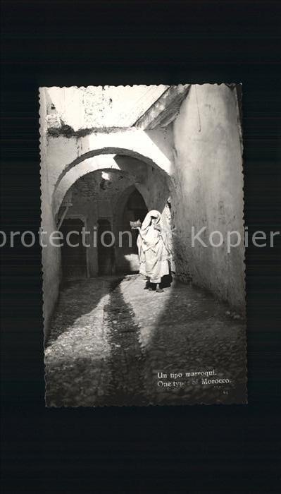 Maroc Marokko Frau in einer Gasse Kat. Marokko