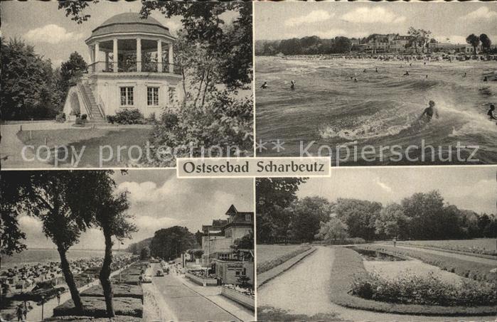 Scharbeutz Ostseebad Pavillon Strandpartie Promenade Park Kat. Scharbeutz