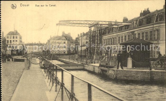 Douai Nord Vue sur le Canal Kat. Douai