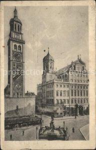 Augsburg Perlachturm und Rathaus Kat. Augsburg