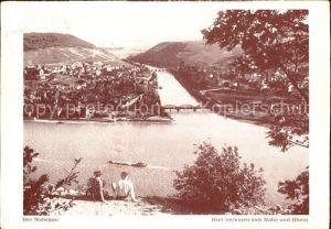 Nahe Nahegau Zusammenfluss von Rhein und Nahe Kat. Nahe